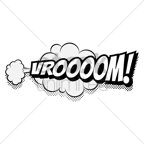 comic bubble vroooom vector graphic