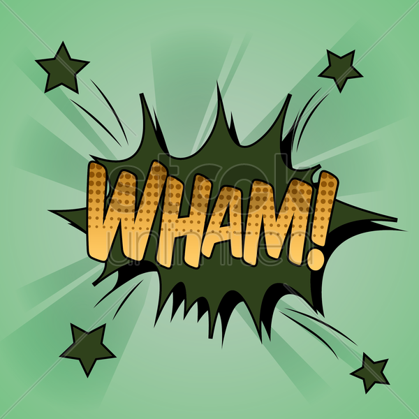 comic bubble wham vector graphic
