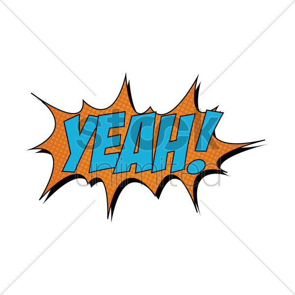 comic bubble yeah vector graphic
