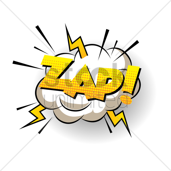 comic bubble zap vector graphic