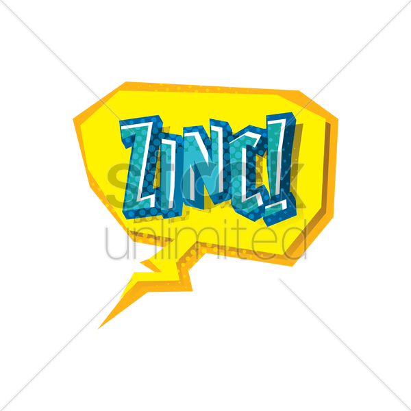 comic bubble zinc vector graphic