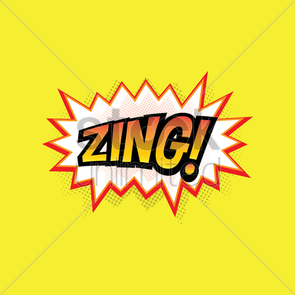 comic bubble zing vector graphic