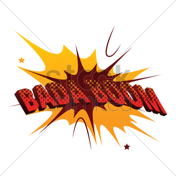 comic effect bada boom vector graphic
