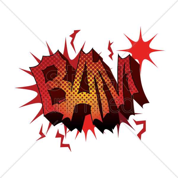 comic effect bam vector graphic