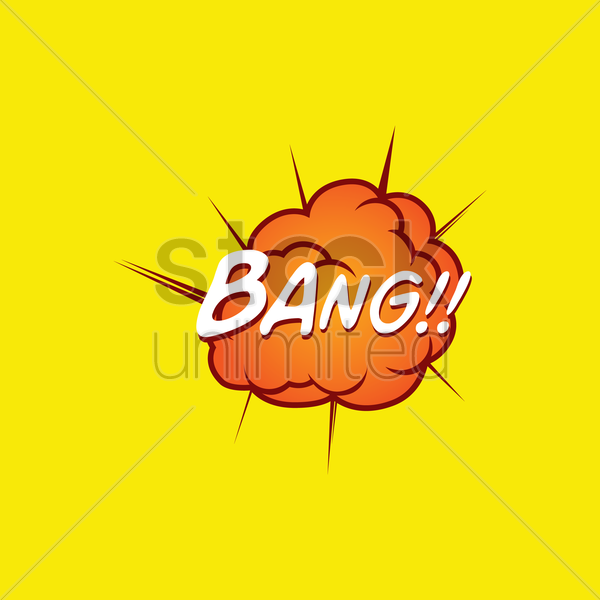 comic effect bang vector graphic