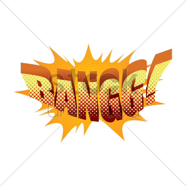 comic effect bangg vector graphic