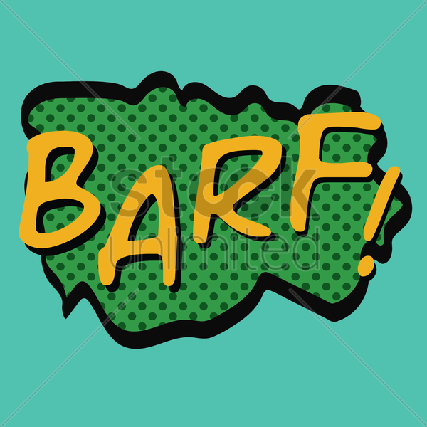 comic effect barf vector graphic