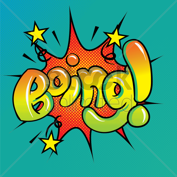 comic effect boing vector graphic