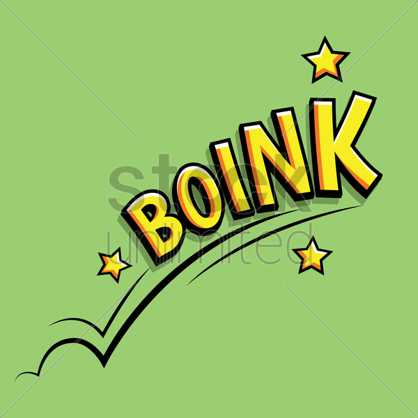 comic effect boink vector graphic
