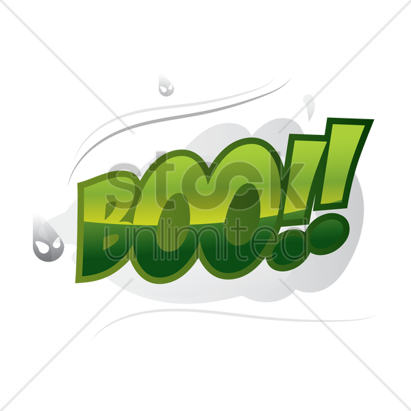 comic effect boo vector graphic