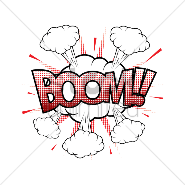 comic effect boom vector graphic