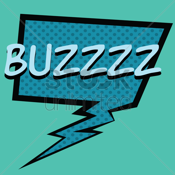 comic effect buzzz vector graphic