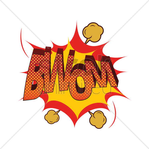 comic effect bwom vector graphic