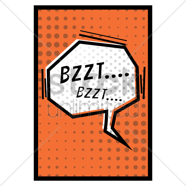 comic effect bzzt vector graphic