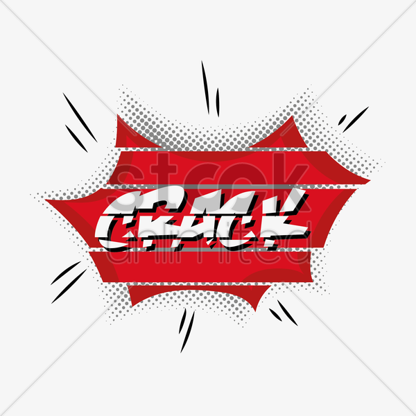 comic effect crack vector graphic