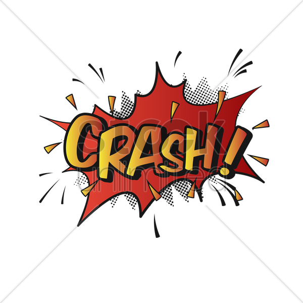 Free comic effect crash vector graphic