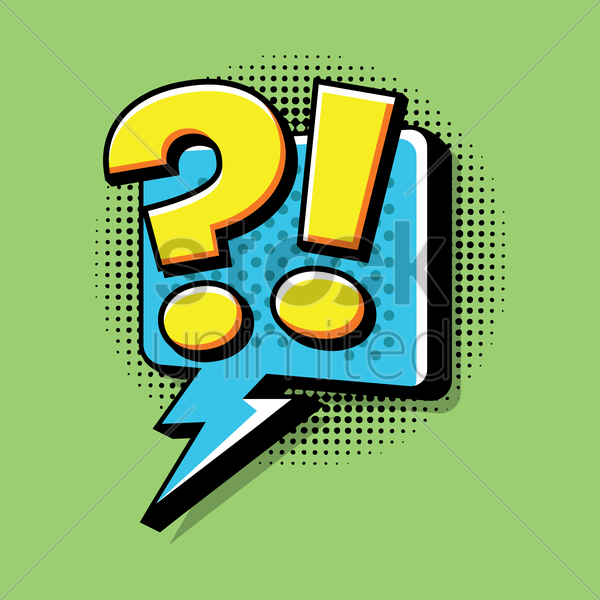 comic effect exclamation and question sign vector graphic