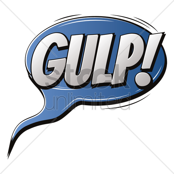 comic effect gulp vector graphic