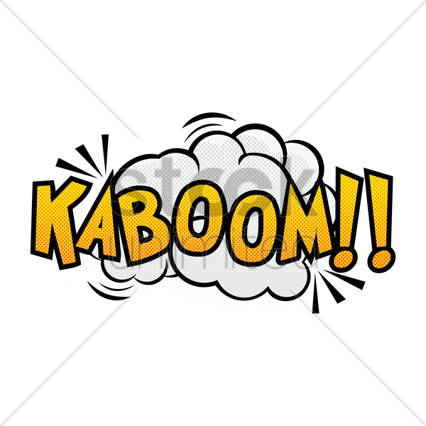 comic effect kaboom vector graphic