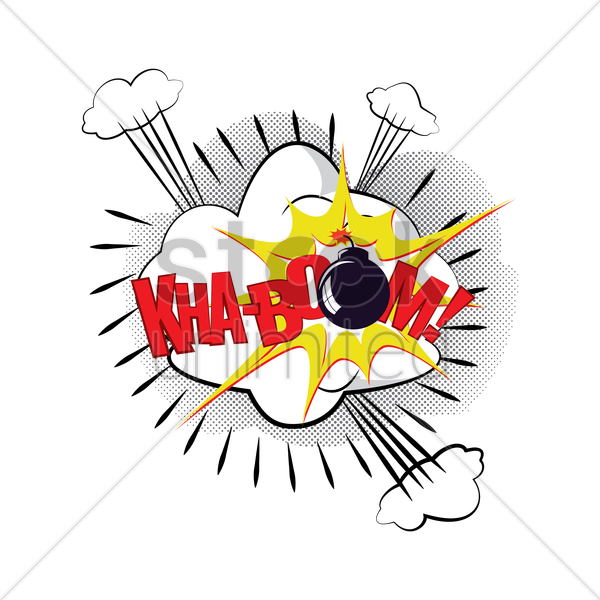 comic effect kha-boom vector graphic
