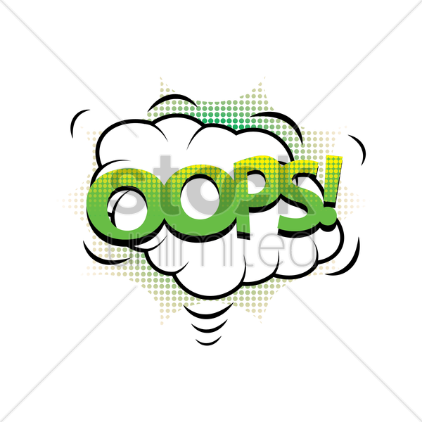comic effect oops vector graphic