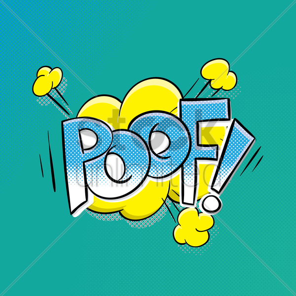 comic effect poof vector graphic