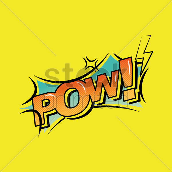 comic effect pow vector graphic