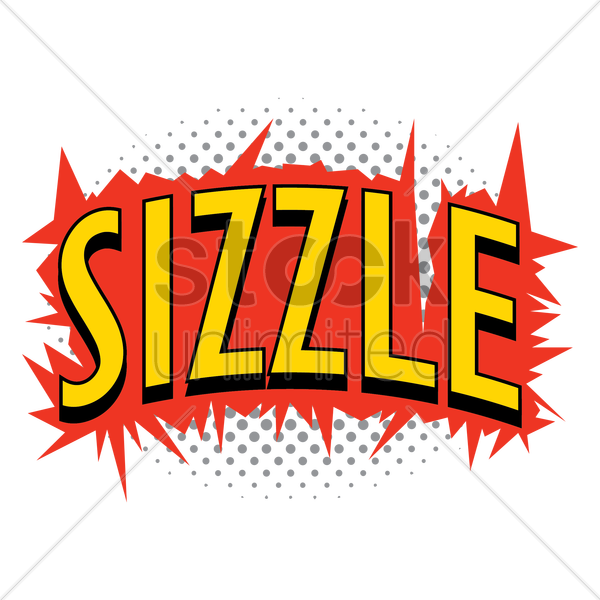 comic effect sizzle vector graphic