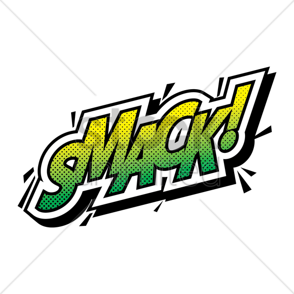 comic effect smack vector graphic