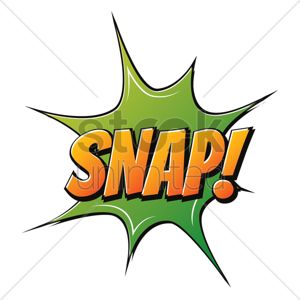 comic effect snap vector graphic