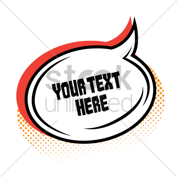 comic effect speech bubble template vector graphic