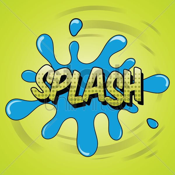 comic effect splash vector graphic
