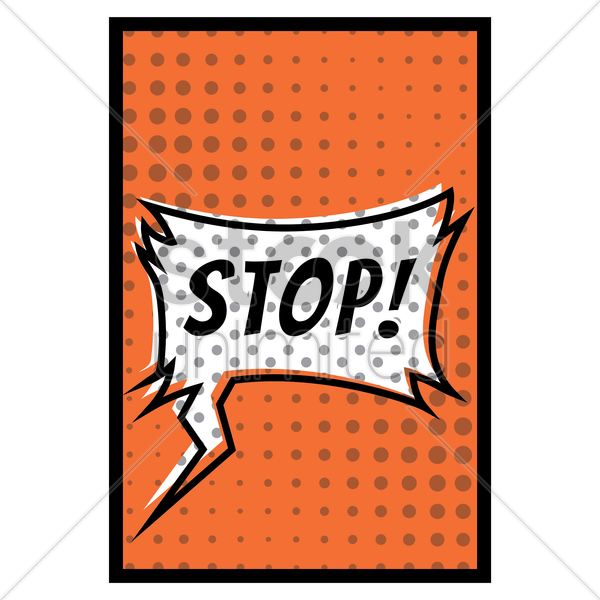 comic effect stop vector graphic