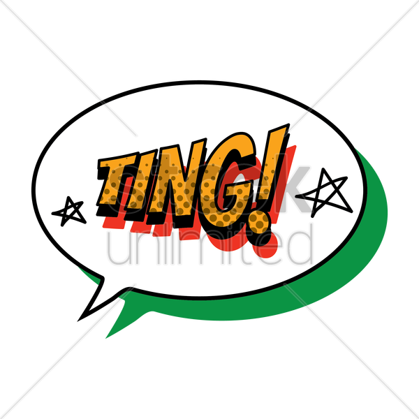comic effect ting vector graphic