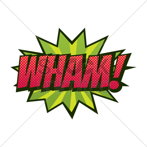 comic effect wham vector graphic