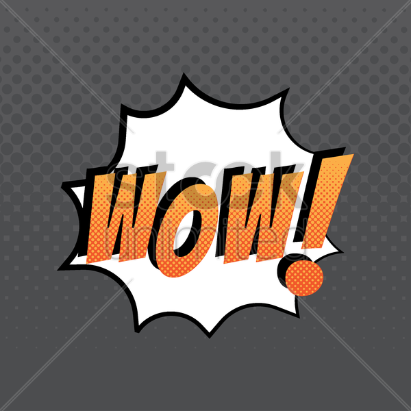 comic effect wow vector graphic