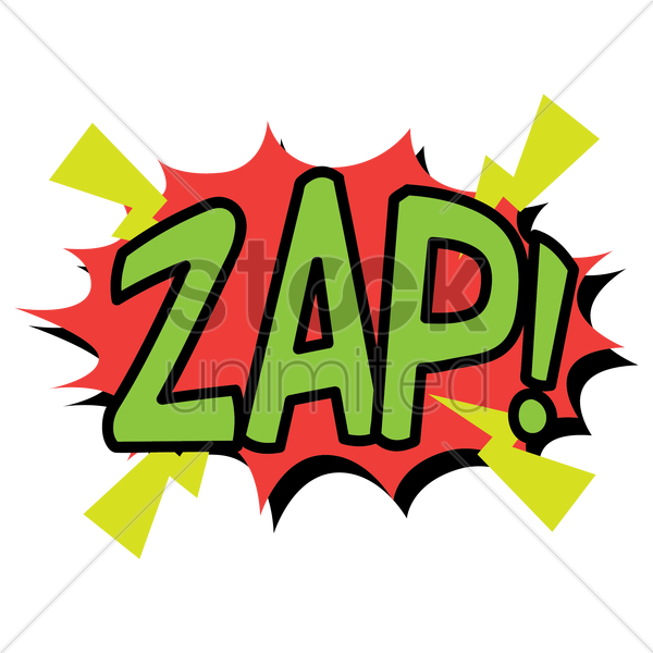 comic effect zap vector graphic