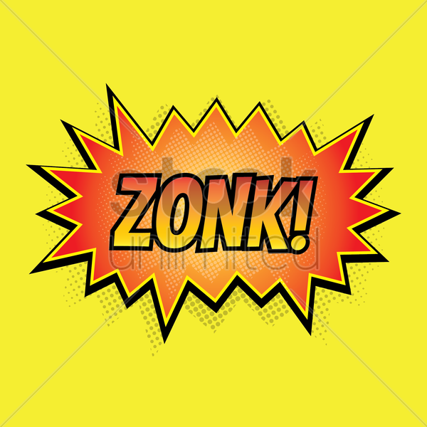 comic effect zonk vector graphic