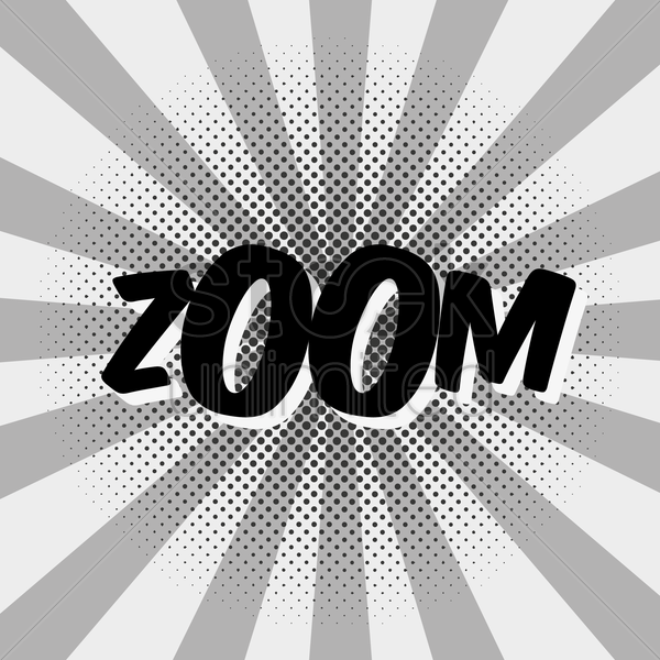 comic effect zoom vector graphic