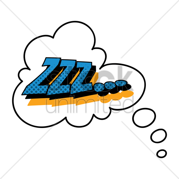 comic effect zzz vector graphic