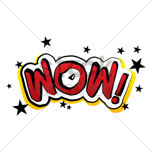 comic word wow vector graphic