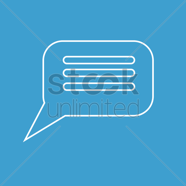 comment icon vector graphic