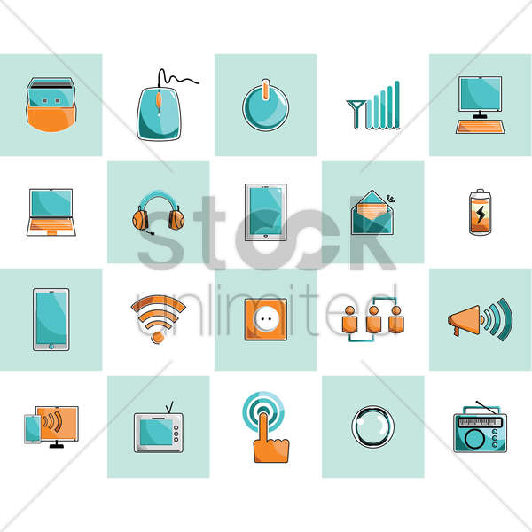 communication collection vector graphic