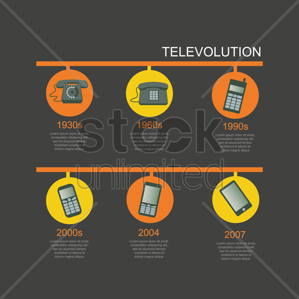 communication infographic presentation vector graphic
