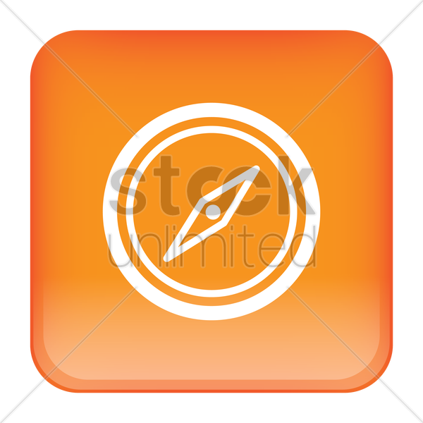compass icon vector graphic