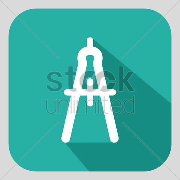 compass tool vector graphic