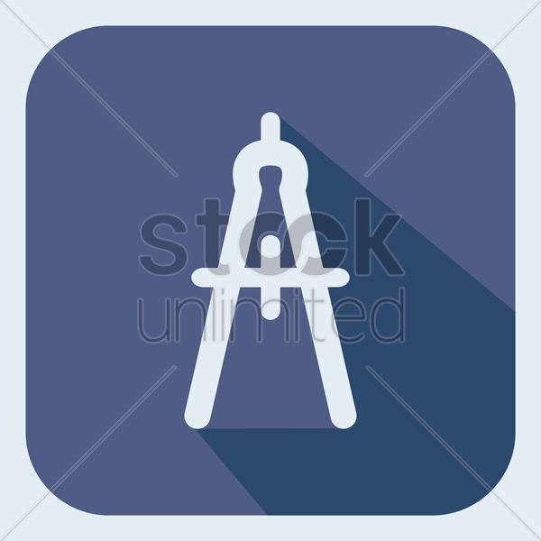 Free compass tool vector graphic