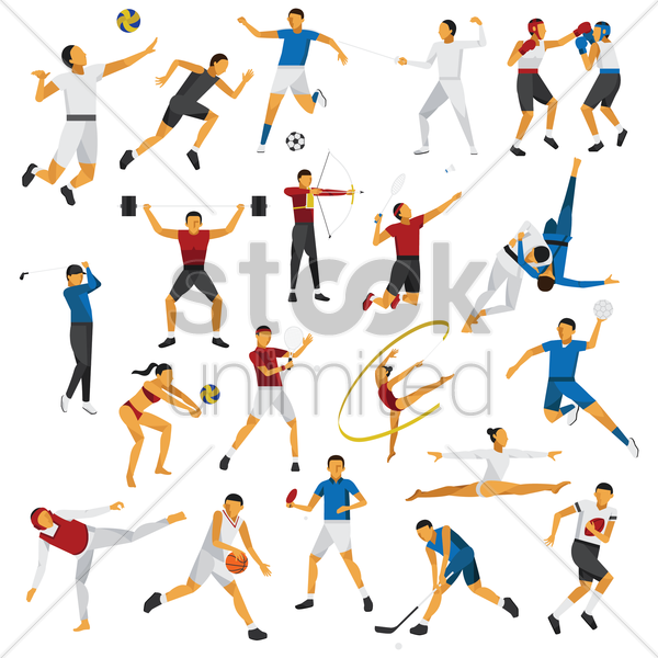 compilation of sports competition vector graphic
