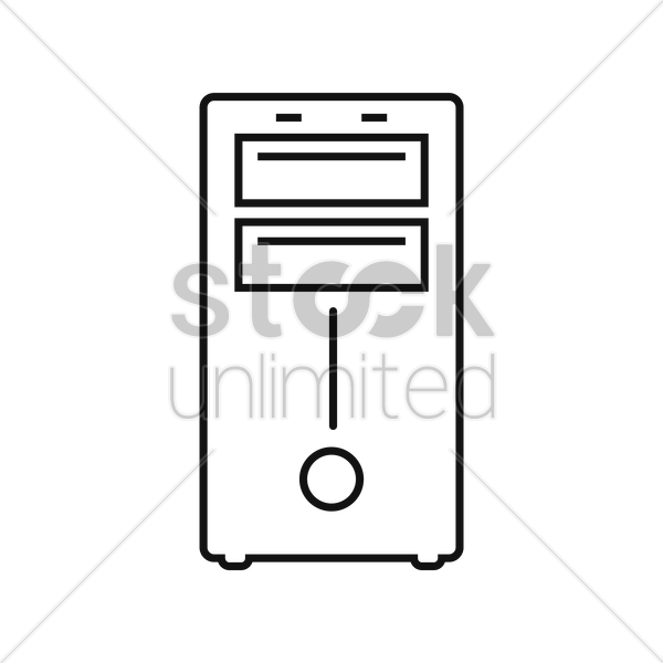 computer cabinet vector graphic
