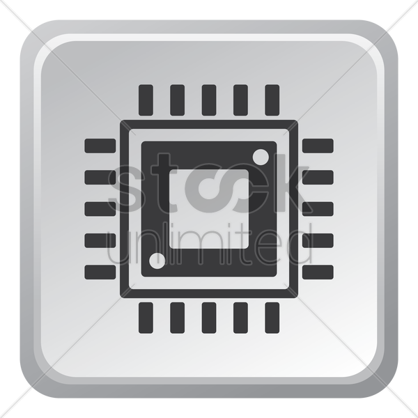 Computer chip Vector Image - 1508839 | StockUnlimited
